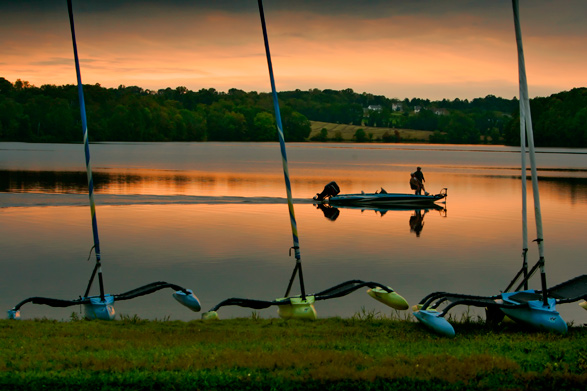 Dusk at Marsh Creek State Park